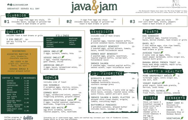 Java&JamMenuBreakfast